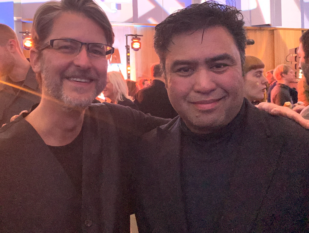 Carlos Lellis and Jomar Reyes at the 2019 Graduate event at Abbey Road Institute